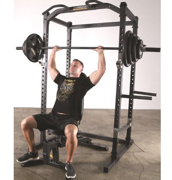 shoulder press on power rack