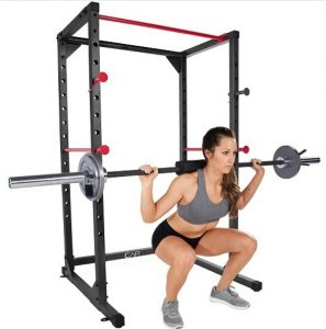 squat on power rack