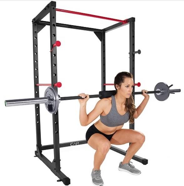 squat on power rack