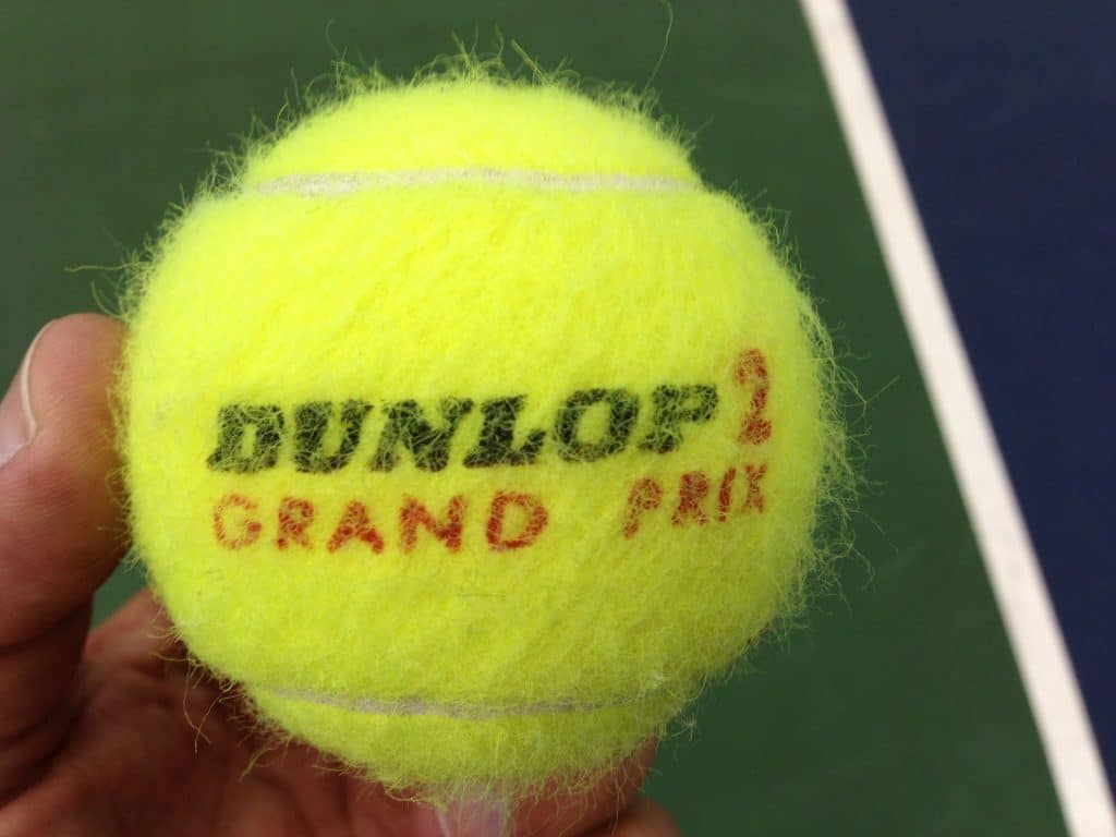 fuzzy on tennis ball