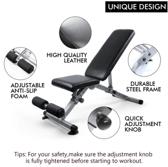 ritfit adjustable weight bench features