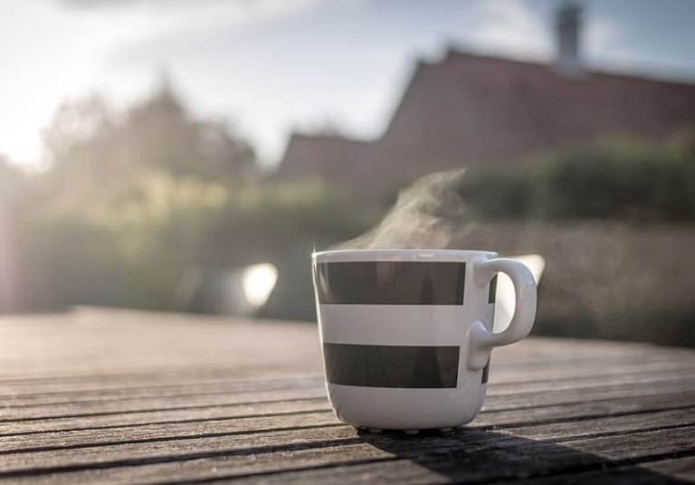 drink coffee morning
